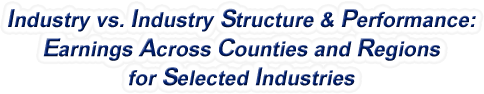 Oregon - Industry vs. Industry Structure & Performance: Employment Across Counties and Regions for Selected Industries